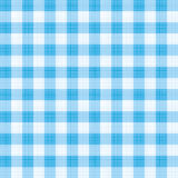 Blue gingham repeat pattern. Easy tilable (you see 4 tiles) blue gingham repeat pattern (print, seamless background, wallpaper) with fabric texture visible stock illustration