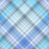 Blue gingham squared mosaic texture. Illustration Stock Images
