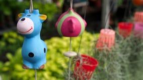 Blue Giraffe Doll Hanging Stock Image