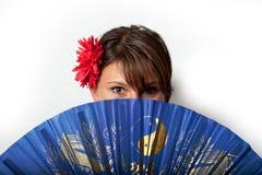 Blue, Girl, Fun, Hair Coloring stock image