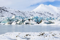 Blue Glacial Ice Stock Photography