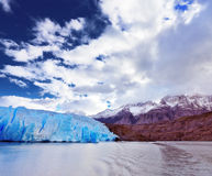 Blue Glacier Gray is reflected in the lake Royalty Free Stock Photography