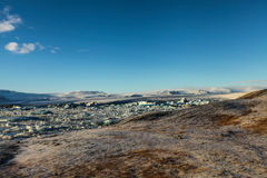 Blue glacier ice, iceberg, Jokulsarlon lagoon, Iceland Stock Image