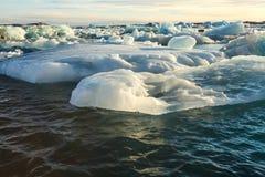 Blue glacier ice, iceberg, Jokulsarlon lagoon, Iceland Stock Photo
