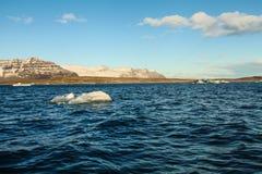 Blue glacier ice, iceberg, Jokulsarlon lagoon, Iceland Stock Photography