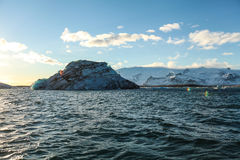 Blue glacier ice, iceberg, Jokulsarlon lagoon, Iceland Royalty Free Stock Images