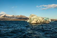 Blue glacier ice, iceberg, Jokulsarlon lagoon, Iceland Royalty Free Stock Photography