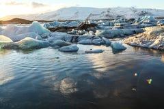 Blue glacier ice, iceberg, Jokulsarlon lagoon, Iceland Royalty Free Stock Photos