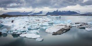 Blue glacier ice, Jokulsarlon lagoon, Iceland Stock Photo