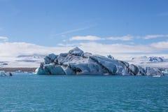 Blue glacier ice-Jokulsarlon lagoon-Iceland Royalty Free Stock Photo