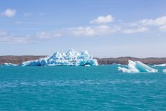 Blue glacier ice-Jokulsarlon lagoon-Iceland Royalty Free Stock Photos