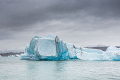 Blue glacier ice-Jokulsarlon lagoon-Iceland Royalty Free Stock Image