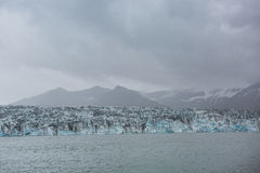 Blue glacier ice-Jokulsarlon lagoon-Iceland Stock Image