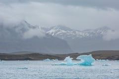 Blue glacier ice-Jokulsarlon lagoon-Iceland Stock Images