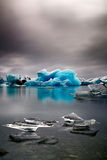 Blue glacier ice melting Iceland global warming Royalty Free Stock Image