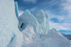 Blue Glacier ice towers usa front of glacial flow Royalty Free Stock Photos