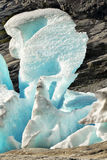 Blue Glacier, Iceberg, Norway, Closeup Royalty Free Stock Photography