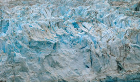 Blue Glacier. In Juneau Bay Stock Image