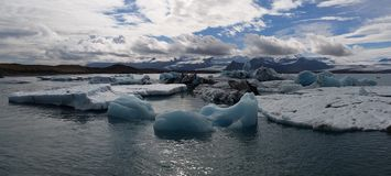 Blue glacier lagoon Iceland Stock Photography