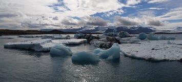 Blue glacier lagoon Iceland stock photography