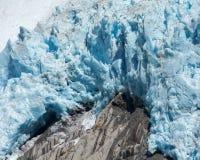 Blue Glacier Melting Stock Photos