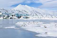 Blue Glacier, White Mountain Royalty Free Stock Photos