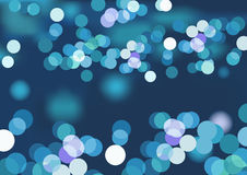 Blue_glare_lights Fotografie Stock