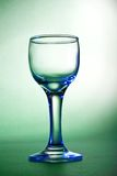 Blue glares on wine glass Royalty Free Stock Photos
