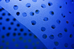 Frosted glass. Blue sandblasted glass with dots on surface Stock Image