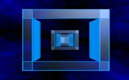 Blue glass stock illustration