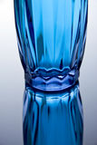 Blue glass. With perfect reflection Royalty Free Stock Photo