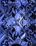 Blue glass. Abstract illustration of a blue  background Royalty Free Stock Photos