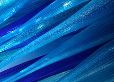 Blue Glass Art flames Royalty Free Stock Images