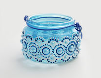 Blue glass bank Stock Photo