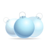 Blue glass baubles Stock Images