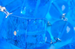 Blue glass beads background Royalty Free Stock Photo