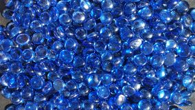 Blue Glass beads Royalty Free Stock Image