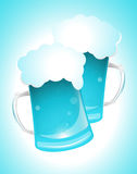 Blue Glass of Beer. Creative Conceptual Design of Blue Glass of Beer Stock Photos