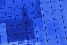 Blue Glass Blocks Background Stock Photography