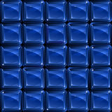 Blue glass blocks - seamless pattern. Abstract seamless pattern - group of blue square glass blocks Royalty Free Stock Images