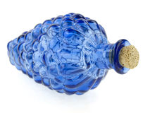 Blue glass bottle Royalty Free Stock Photography