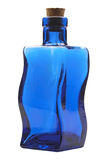 Blue glass bottle Stock Image