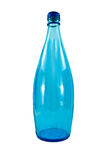 Blue glass bottle Stock Photos