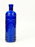 Blue glass bottle Royalty Free Stock Image