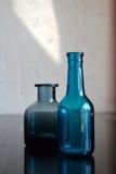 Blue Glass Bottles Stock Images
