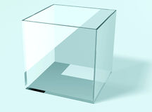 Blue glass box Royalty Free Stock Photos