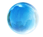 Blue glass bubble. On white background Royalty Free Stock Image