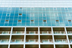 Blue glass building with balconies Stock Photography