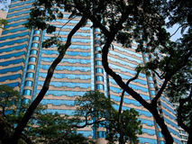 Blue glass building in Malaysia Stock Image