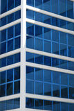 Blue Glass Building. A photo taken on a building with blue glass exterior stock photography